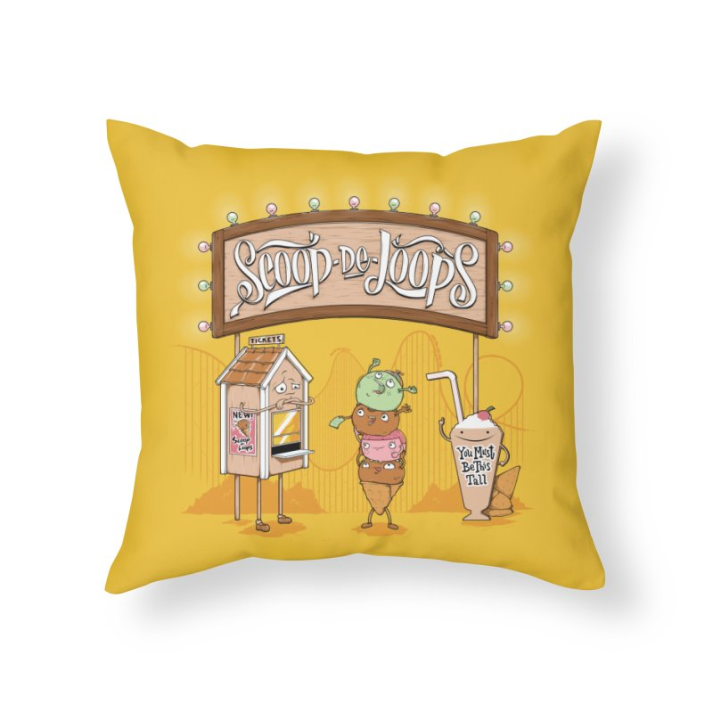 Scoop De Loops Home Decor Throw Pillow by Made With Awesome