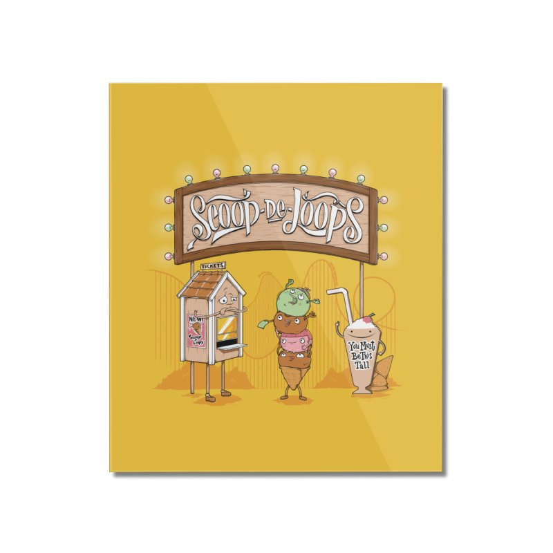 Scoop De Loops Home Mounted Acrylic Print by Made With Awesome