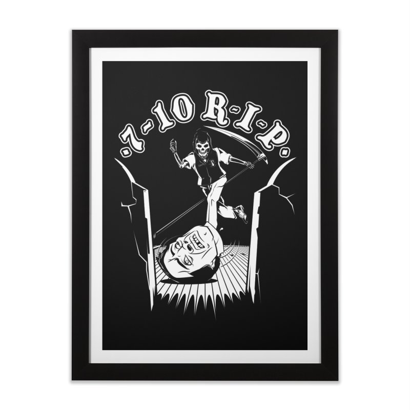 The Pin Reaper Home Framed Fine Art Print by Made With Awesome