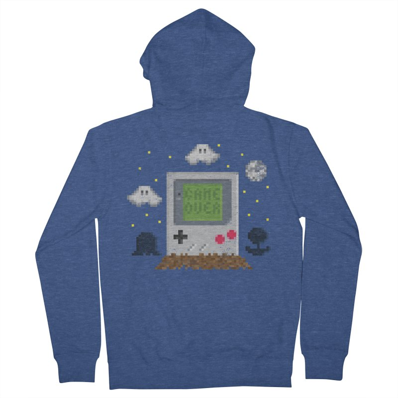 Rest in Pixels Men's Zip-Up Hoody by Made With Awesome