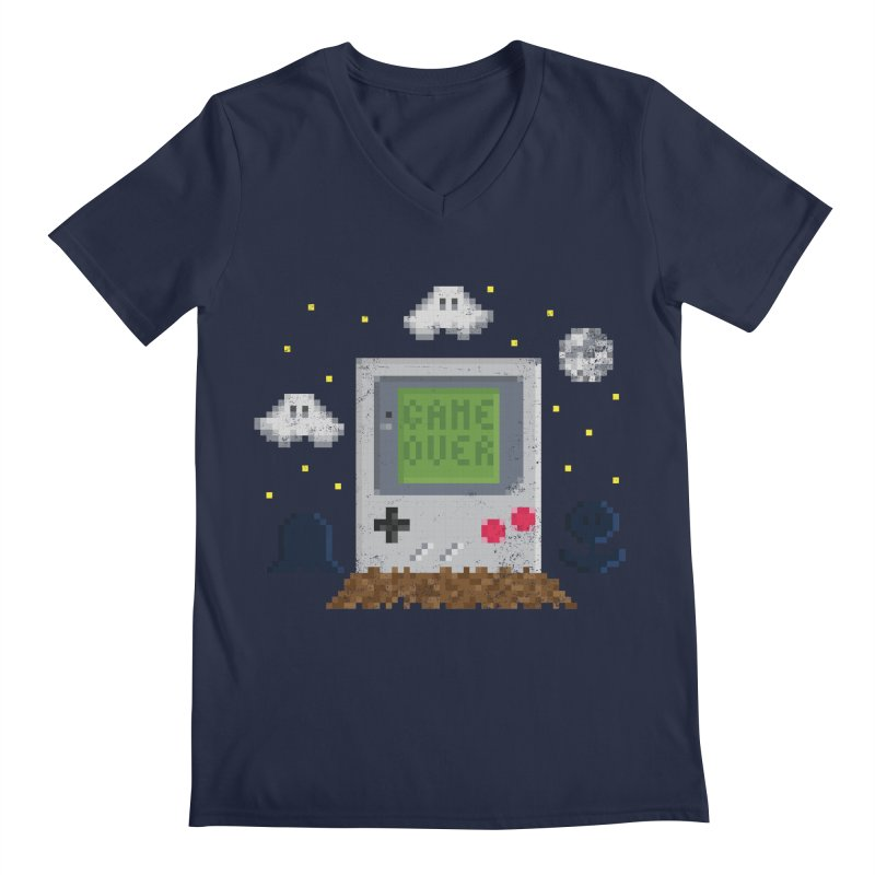 Rest in Pixels Men's V-Neck by Made With Awesome