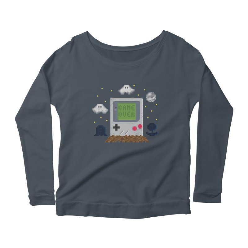 Rest in Pixels Women's Longsleeve Scoopneck  by Made With Awesome