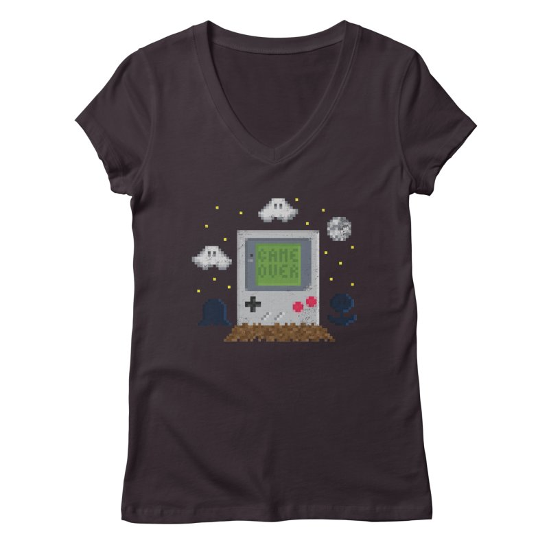 Rest in Pixels Women's V-Neck by Made With Awesome