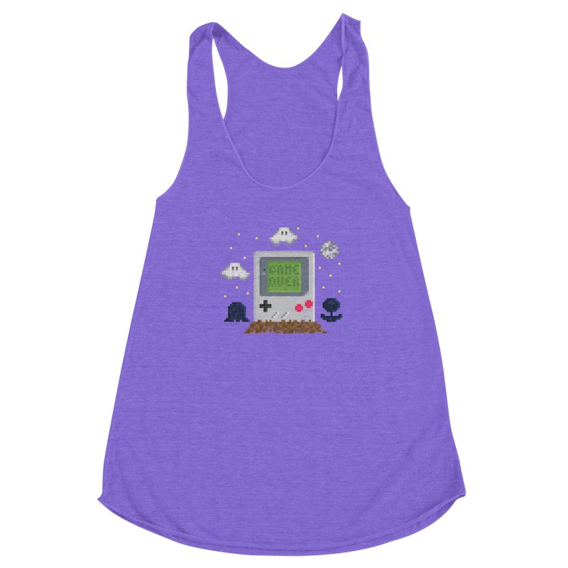 Rest in Pixels Women's Racerback Triblend Tank by Made With Awesome