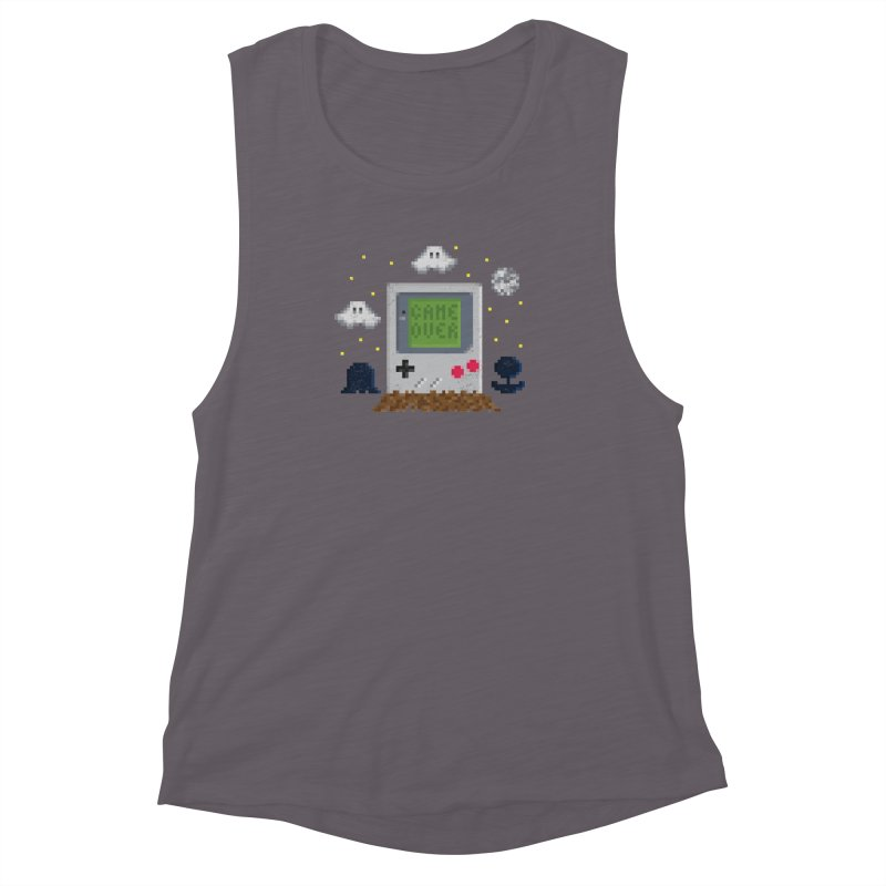 Rest in Pixels Women's Muscle Tank by Made With Awesome