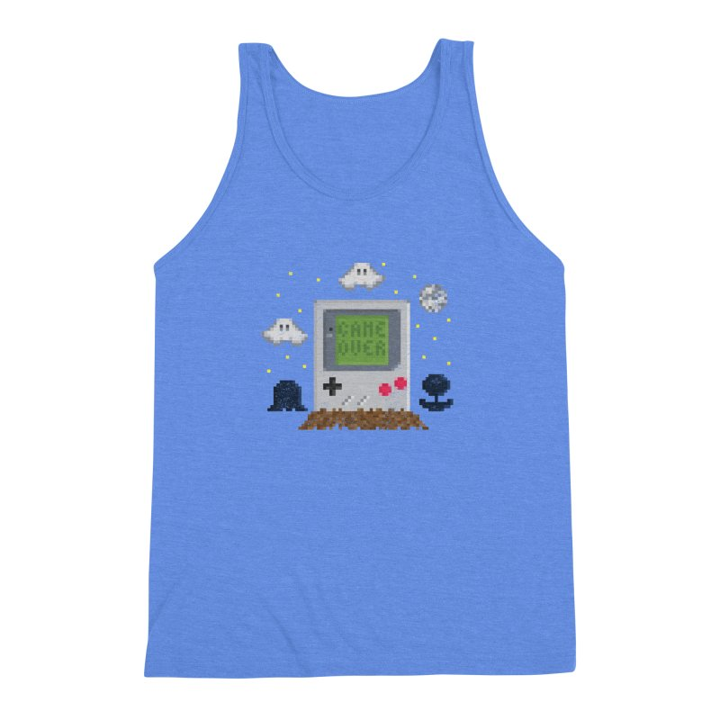Rest in Pixels Men's Triblend Tank by Made With Awesome
