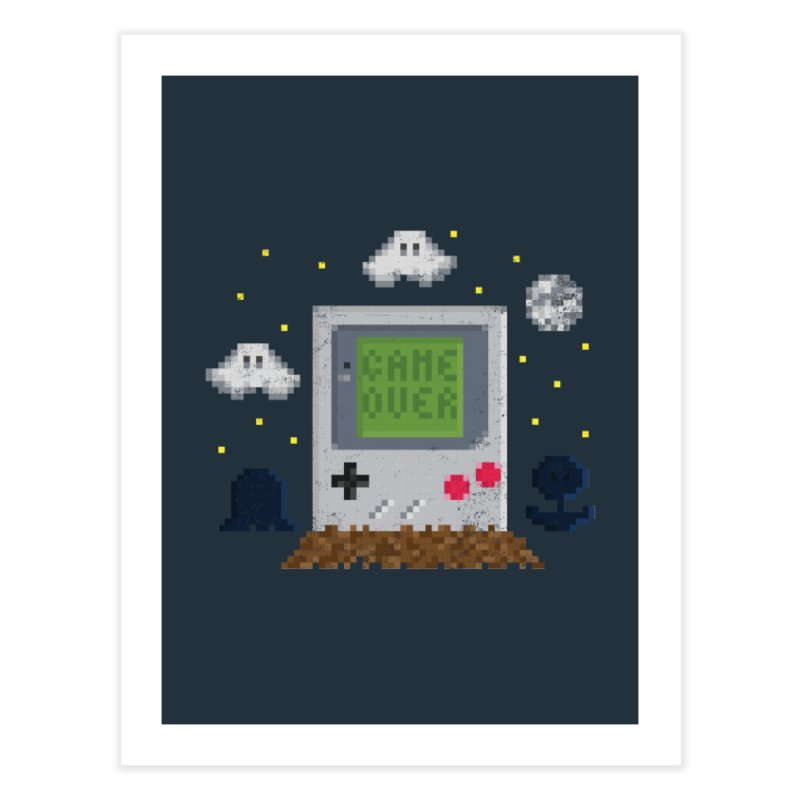 Rest in Pixels Home Fine Art Print by Made With Awesome