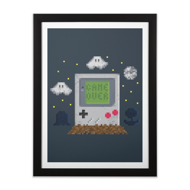 Rest in Pixels Home Framed Fine Art Print by Made With Awesome