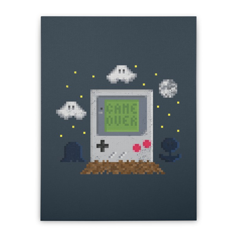 Rest in Pixels Home Stretched Canvas by Made With Awesome