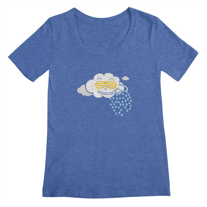 Make It Rain Women's Scoopneck by Made With Awesome