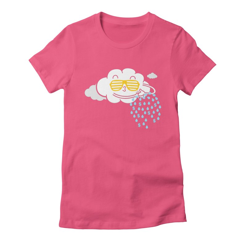 Make It Rain Women's Fitted T-Shirt by Made With Awesome