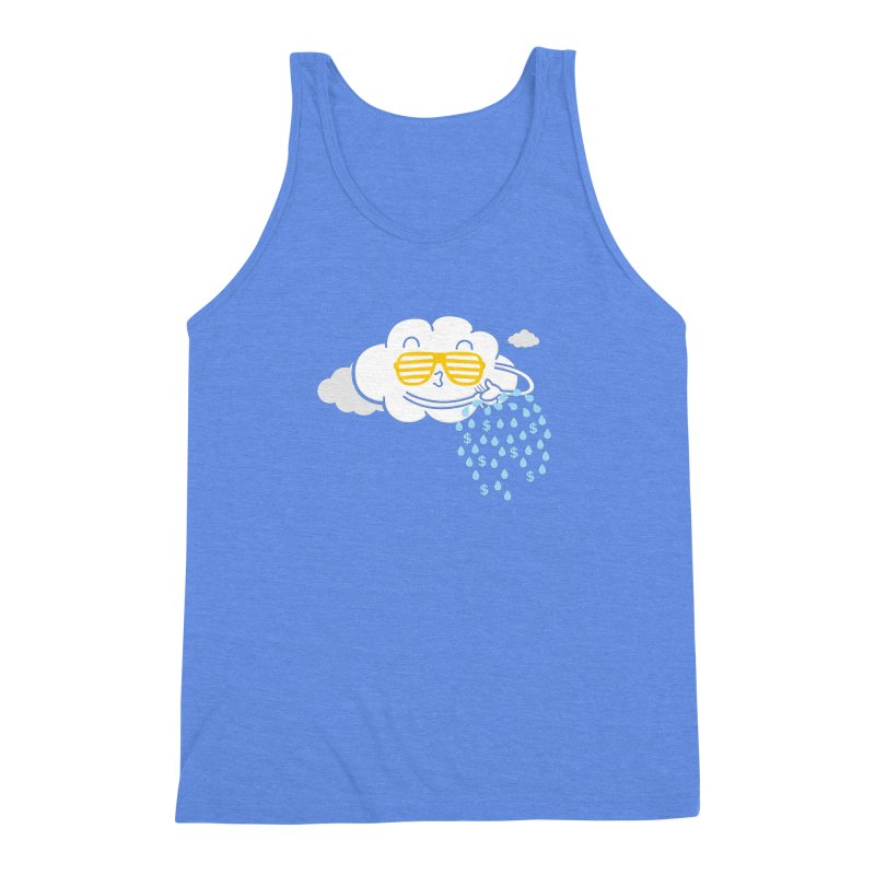 Make It Rain Men's Triblend Tank by Made With Awesome