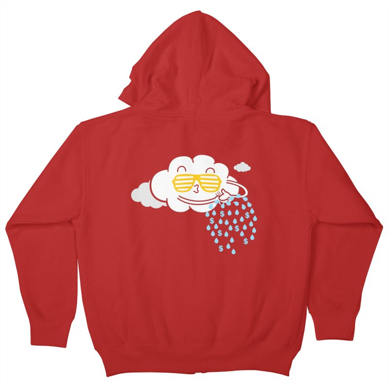 Make It Rain Kids Zip-Up Hoody by Made With Awesome