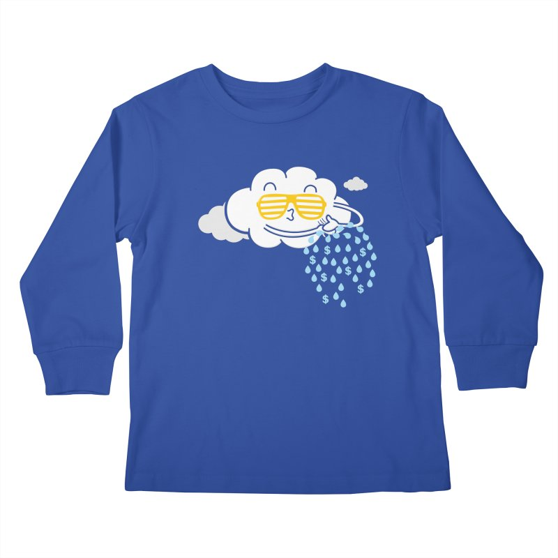 Make It Rain Kids Longsleeve T-Shirt by Made With Awesome
