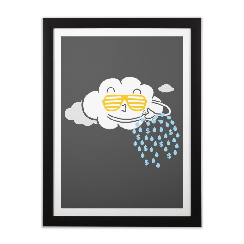 Make It Rain Home Framed Fine Art Print by Made With Awesome