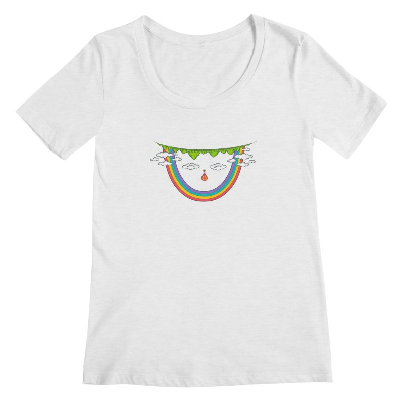 Turn That Frown Women's Scoopneck by Made With Awesome