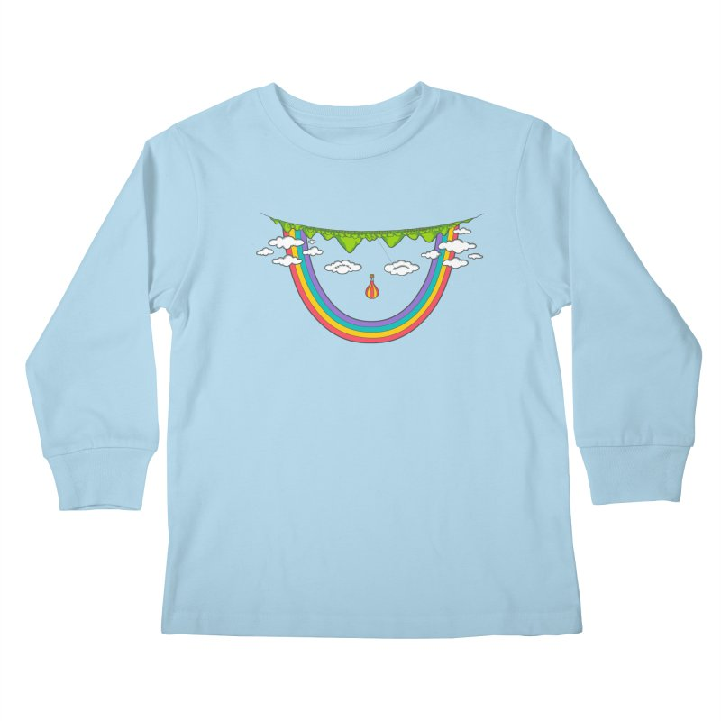 Turn That Frown Kids Longsleeve T-Shirt by Made With Awesome