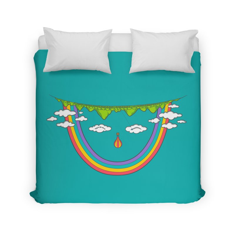Turn That Frown Home Duvet by Made With Awesome