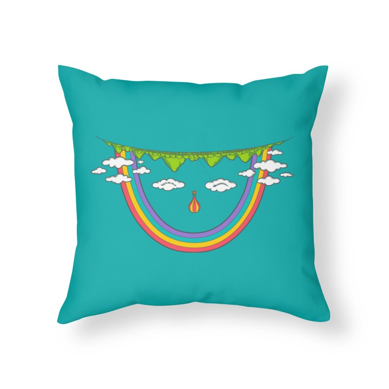 Turn That Frown Home Throw Pillow by Made With Awesome