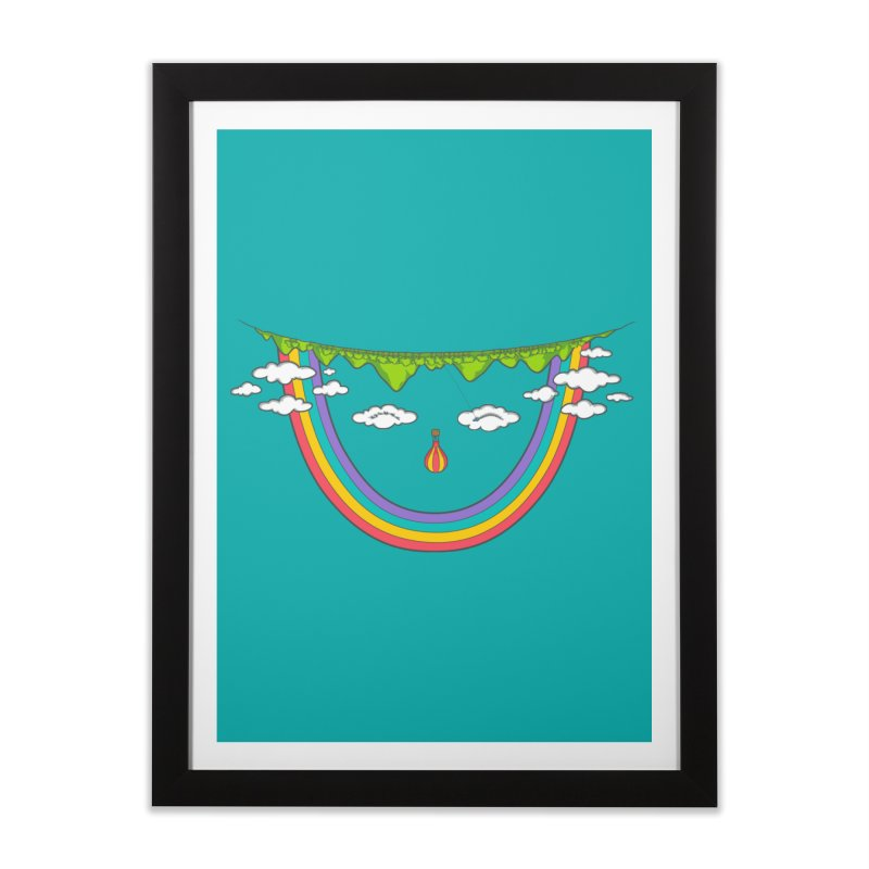 Turn That Frown Home Framed Fine Art Print by Made With Awesome