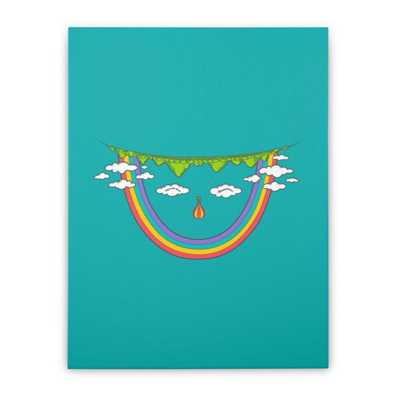 Turn That Frown Home Stretched Canvas by Made With Awesome