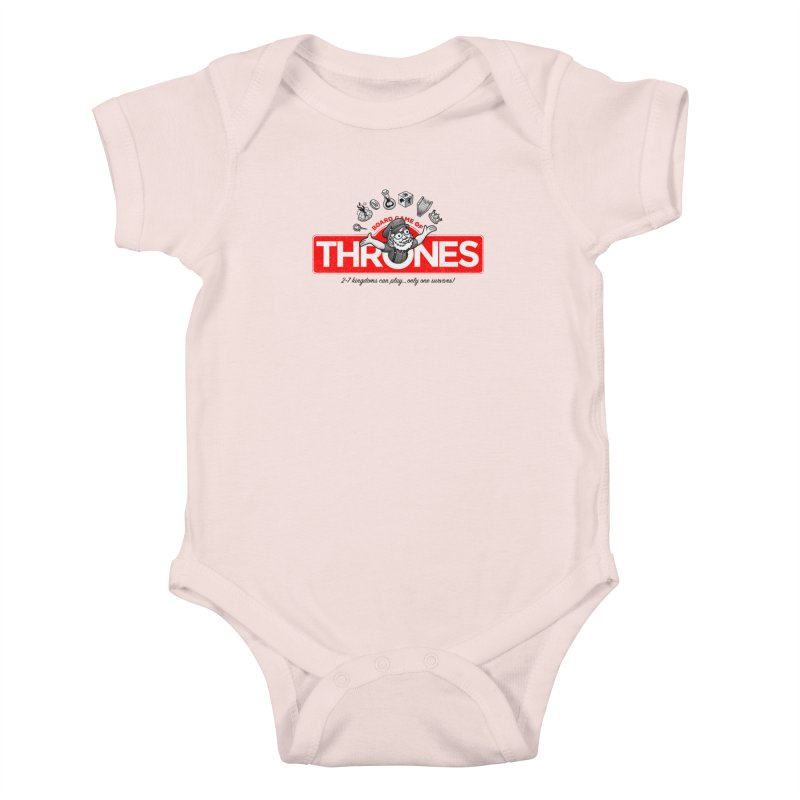 Thronopoly Kids Baby Bodysuit by Made With Awesome