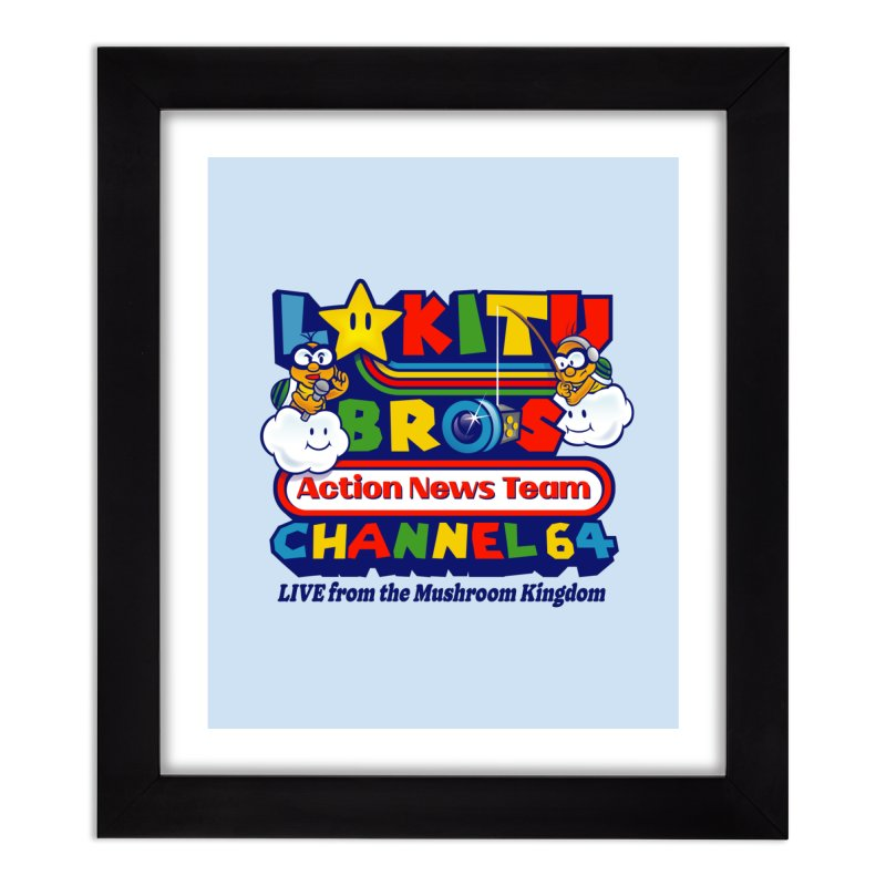 Channel 64 Home Decor Framed Fine Art Print by Made With Awesome