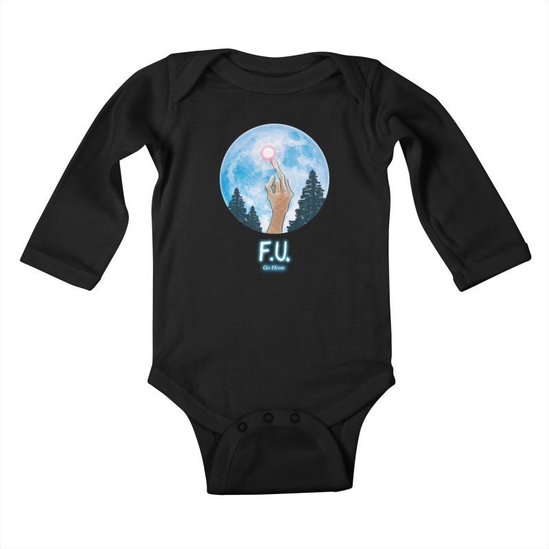 Go Home Lil' Ones Baby Longsleeve Bodysuit by Made With Awesome