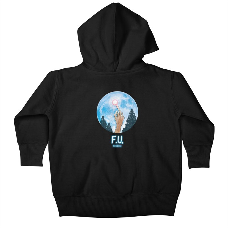Go Home Lil' Ones Baby Zip-Up Hoody by Made With Awesome