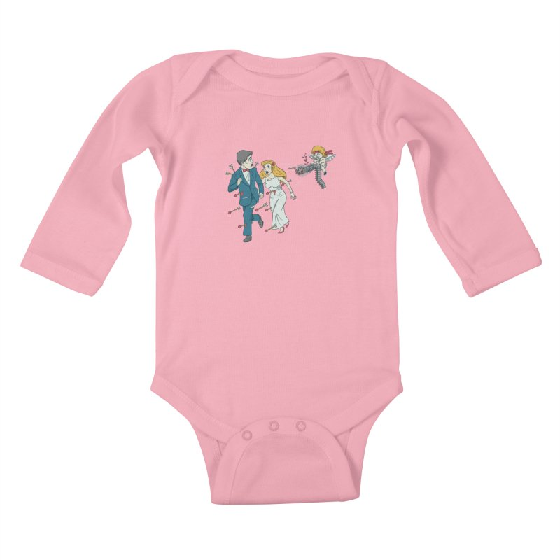 Love Kills Kids Baby Longsleeve Bodysuit by Made With Awesome