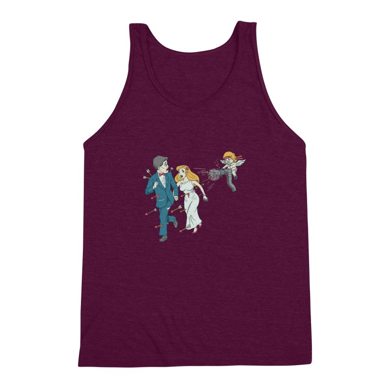 Love Kills Men's Triblend Tank by Made With Awesome