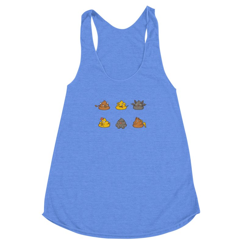 Oh Sh*t Women's Racerback Triblend Tank by Made With Awesome