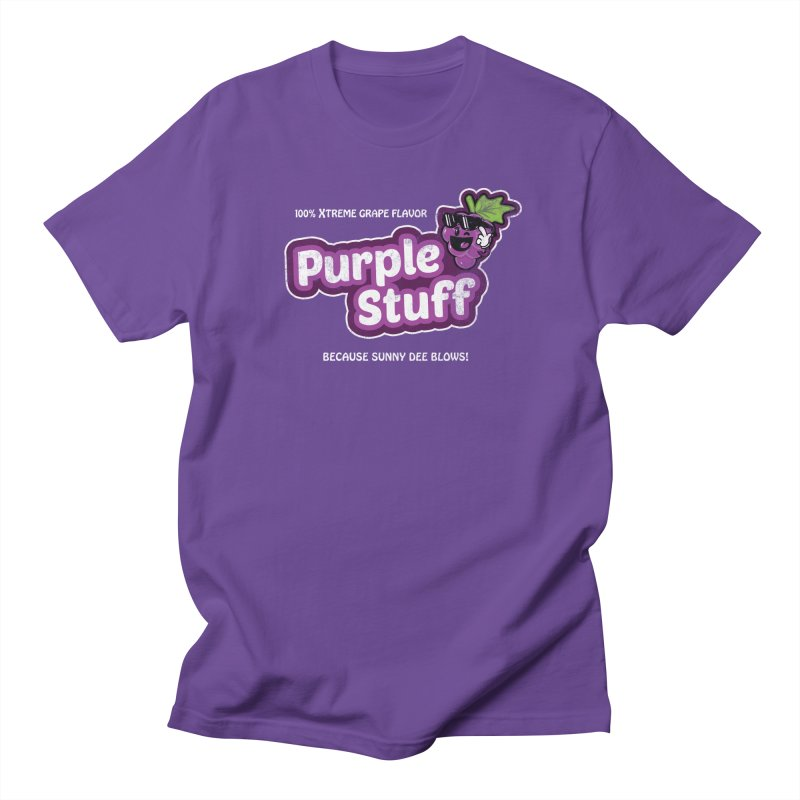 Purple Stuff Men's T-shirt by Made With Awesome
