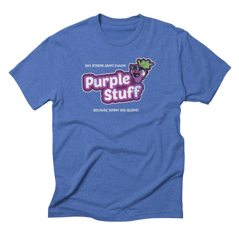 Purple Stuff Men's Triblend T-shirt by Made With Awesome