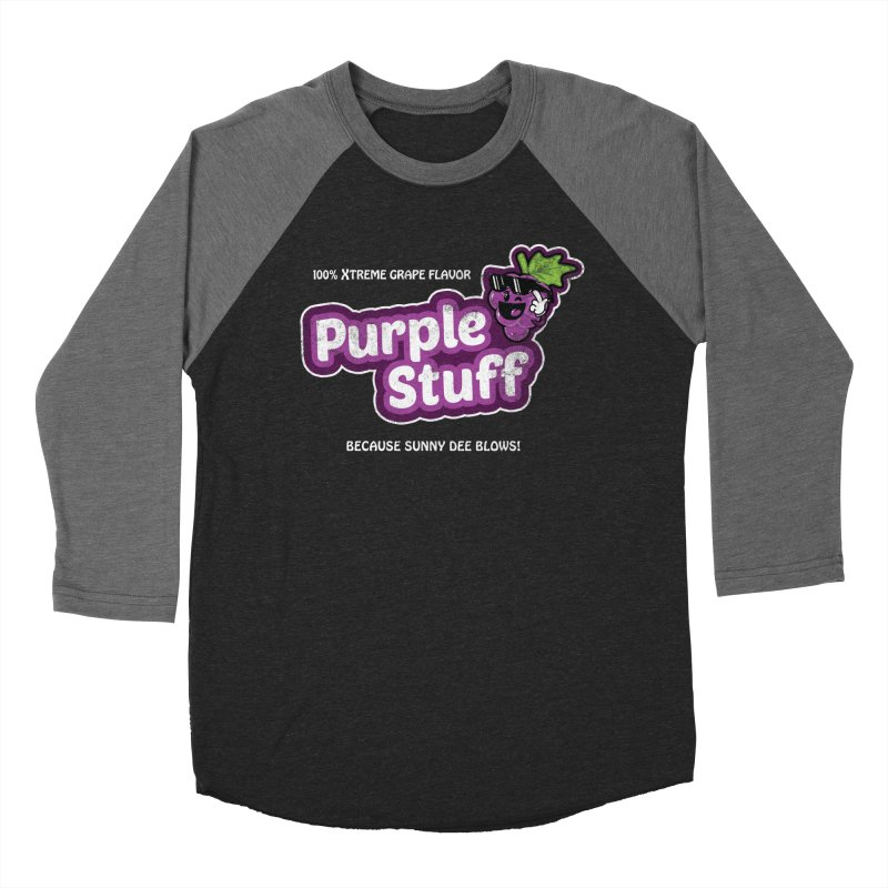 Purple Stuff Men's Baseball Triblend T-Shirt by Made With Awesome