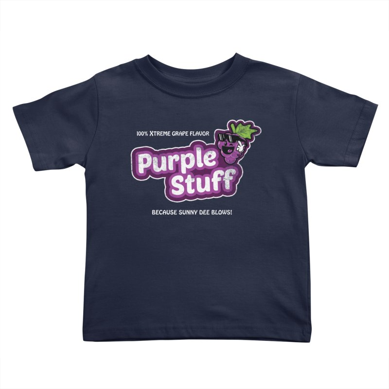 Purple Stuff Kids Toddler T-Shirt by Made With Awesome