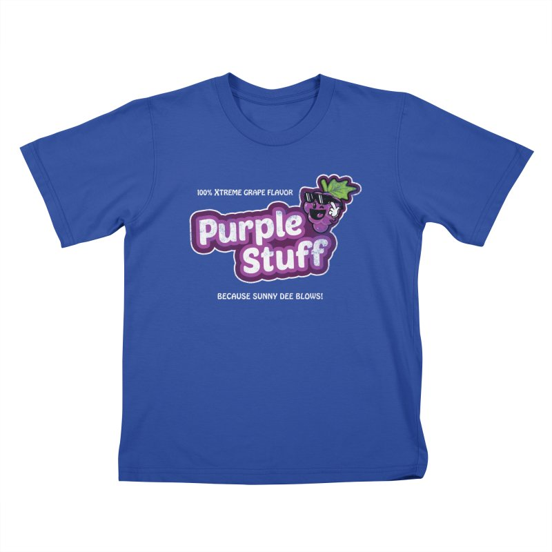 Purple Stuff Kids T-shirt by Made With Awesome