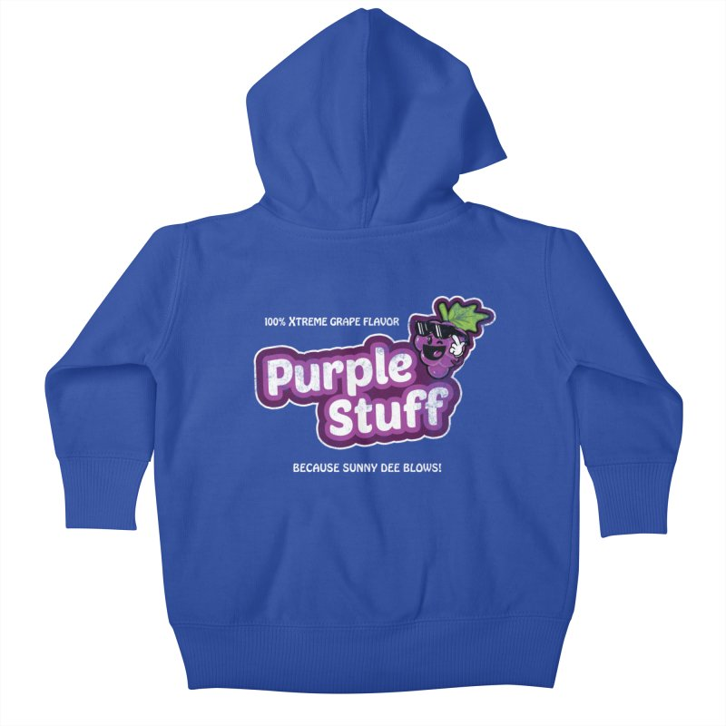 Purple Stuff Kids Baby Zip-Up Hoody by Made With Awesome