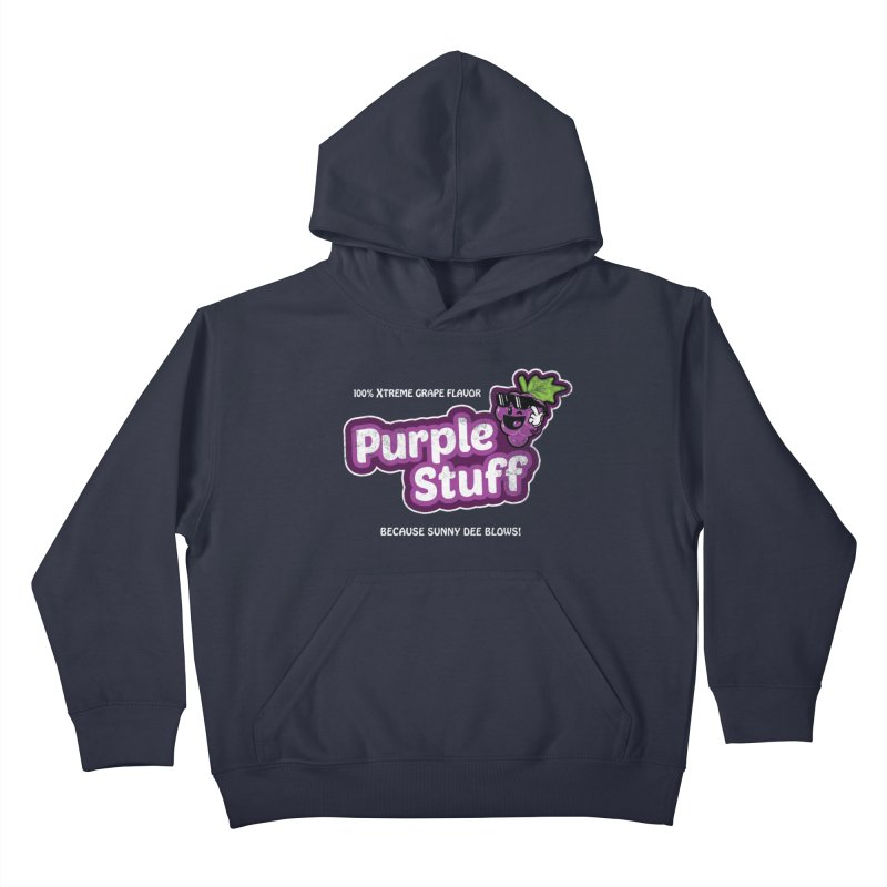 Purple Stuff Kids Pullover Hoody by Made With Awesome