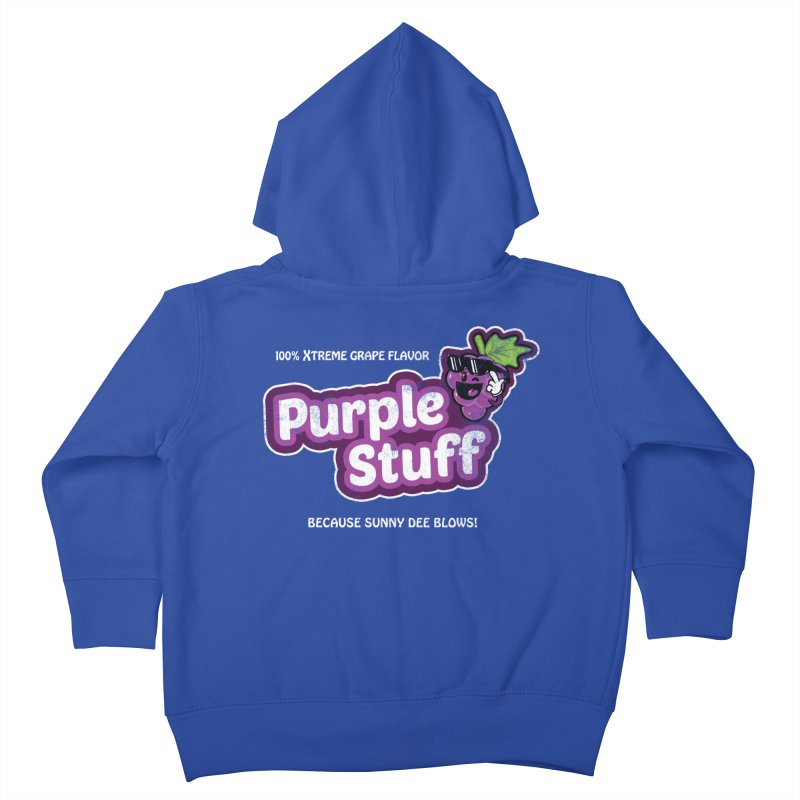 Purple Stuff Kids Toddler Zip-Up Hoody by Made With Awesome