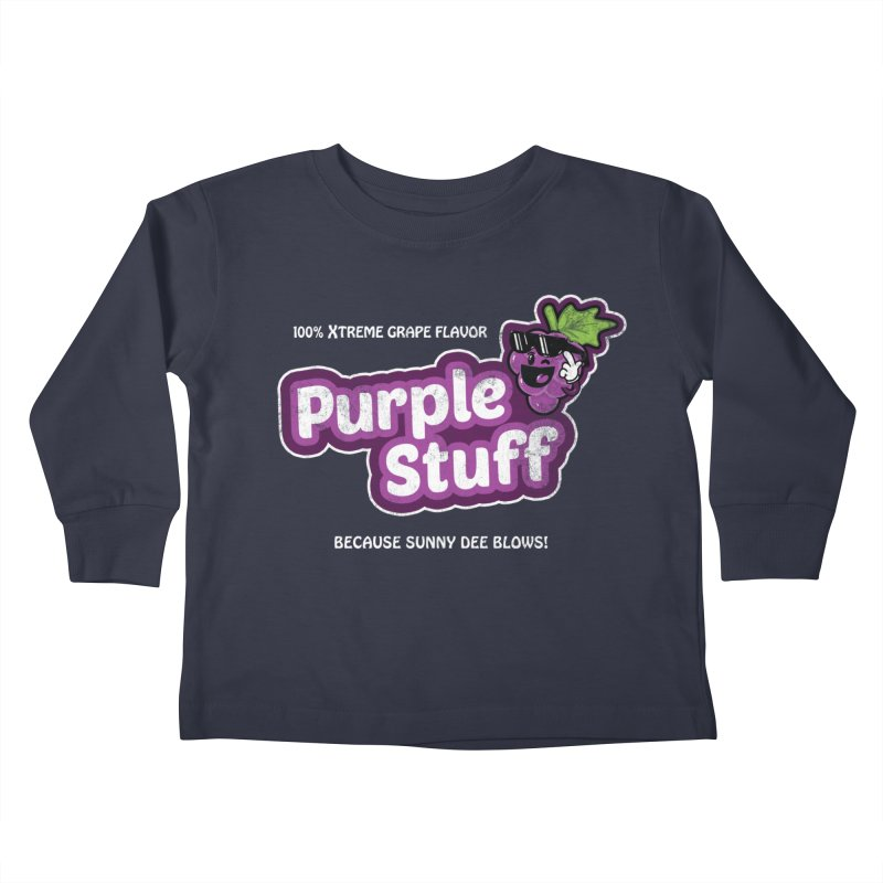 Purple Stuff Kids Toddler Longsleeve T-Shirt by Made With Awesome
