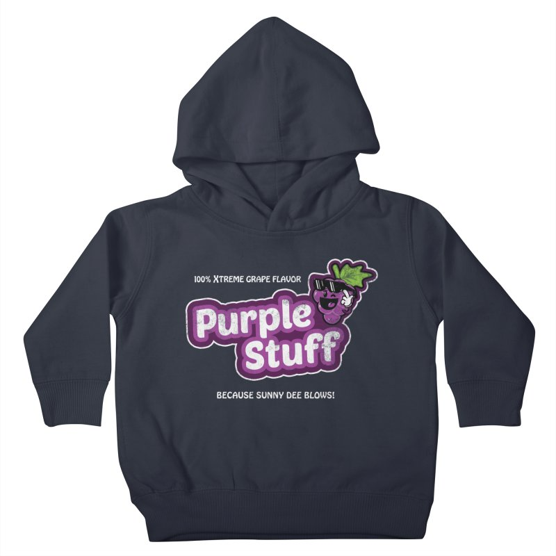 Purple Stuff Kids Toddler Pullover Hoody by Made With Awesome