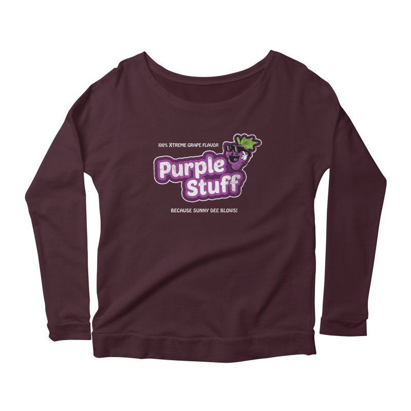 Purple Stuff Women's Longsleeve Scoopneck  by Made With Awesome