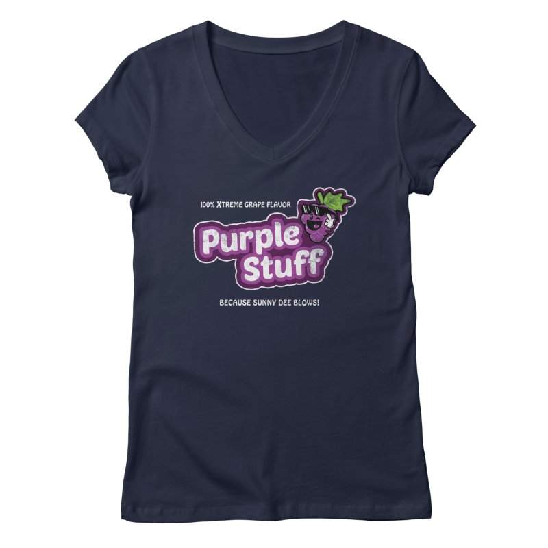 Purple Stuff Women's V-Neck by Made With Awesome