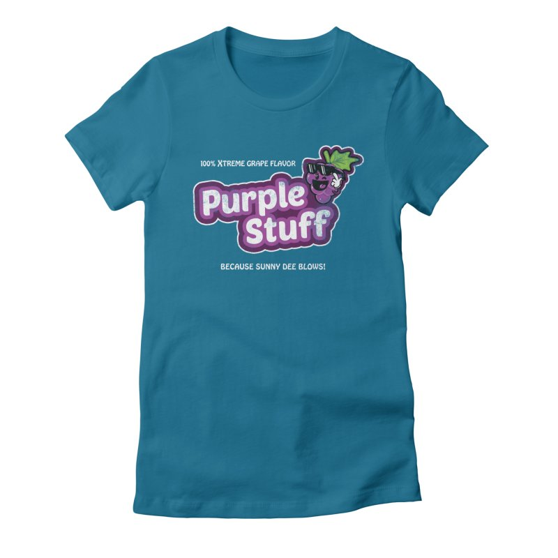 Purple Stuff Women's Fitted T-Shirt by Made With Awesome