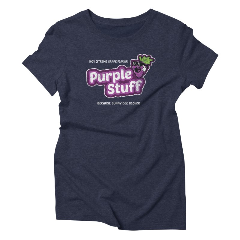 Purple Stuff Women's Triblend T-shirt by Made With Awesome