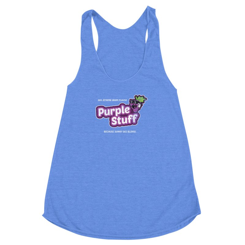 Purple Stuff Women's Racerback Triblend Tank by Made With Awesome