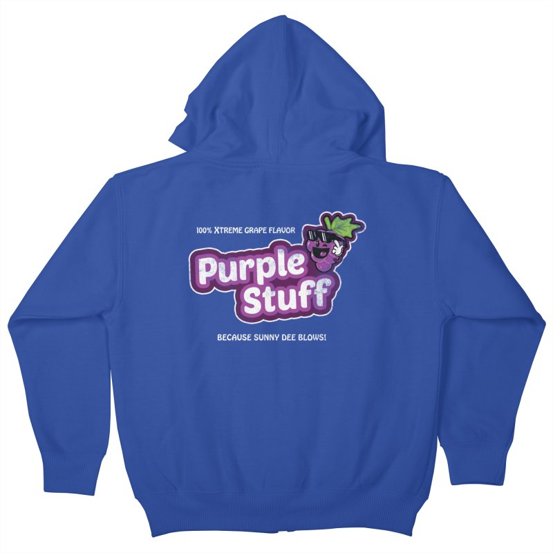 Purple Stuff Kids Zip-Up Hoody by Made With Awesome