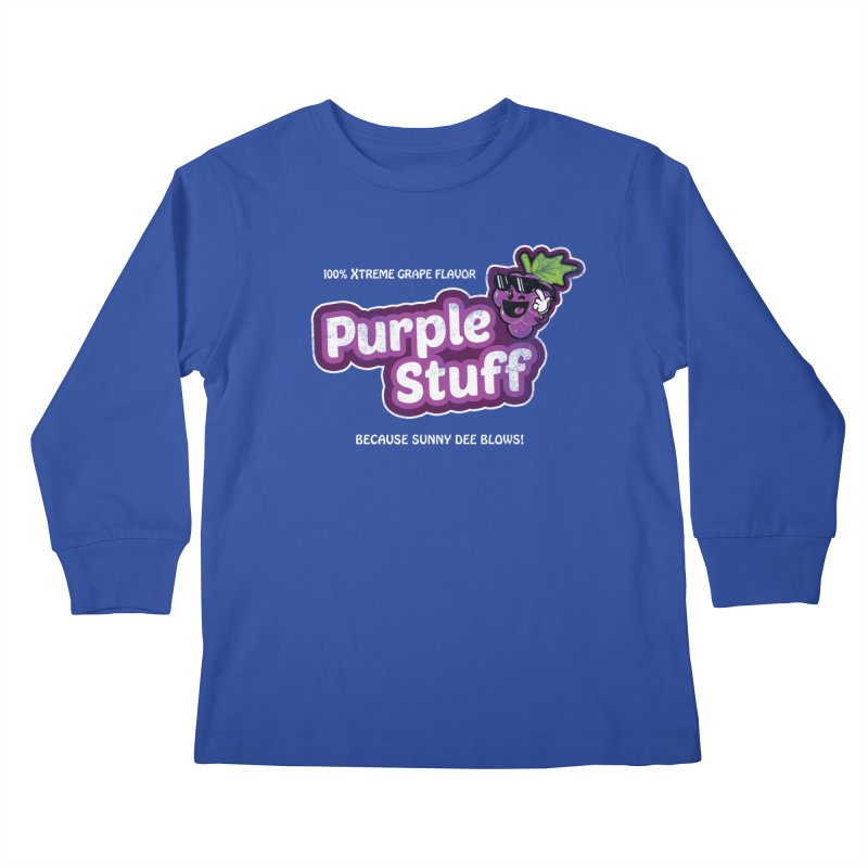 Purple Stuff Kids Longsleeve T-Shirt by Made With Awesome