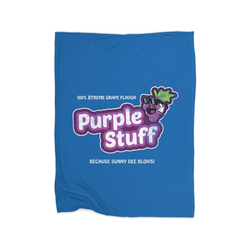 Purple Stuff Home Blanket by Made With Awesome